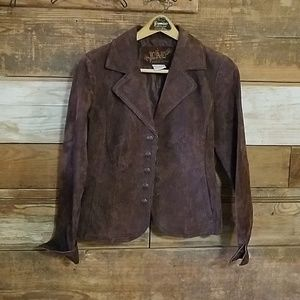 LAL Live A Little suede leather jacket petite